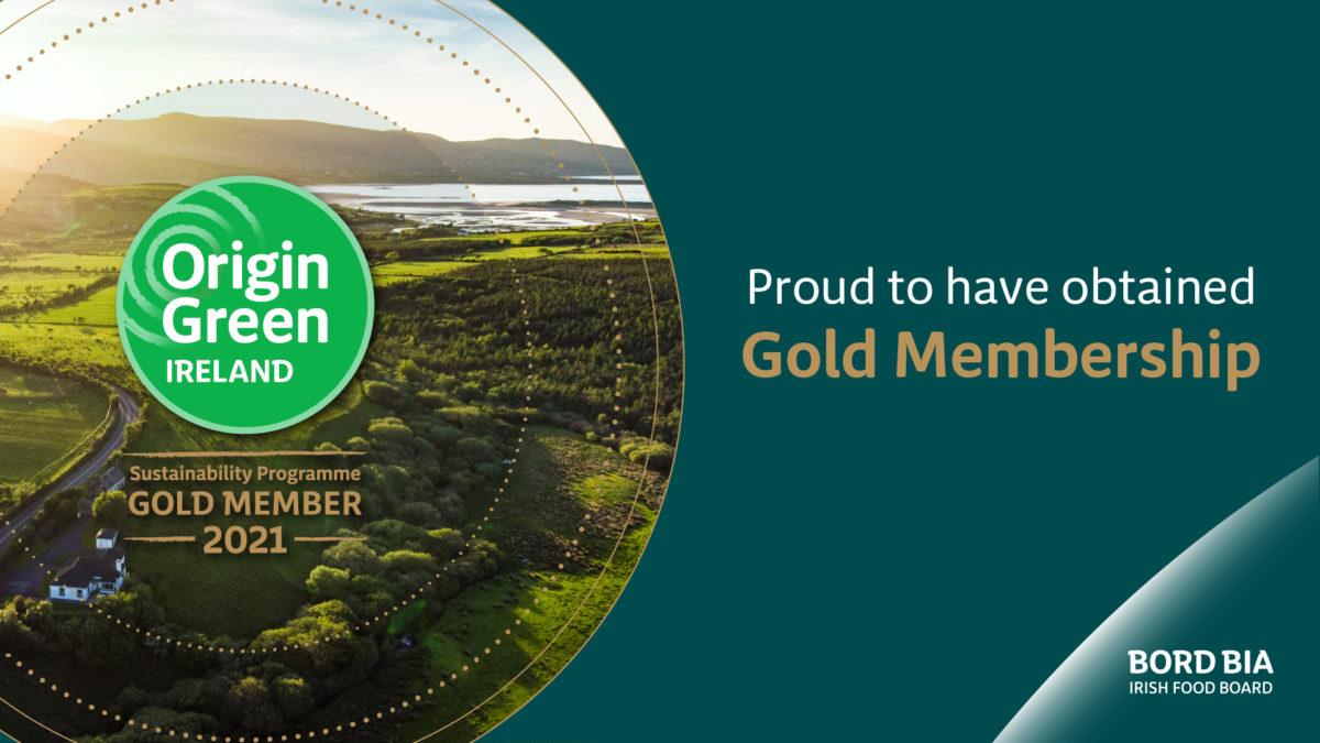 Gold Member of Bord Bia's Origin Green Programme for 2021